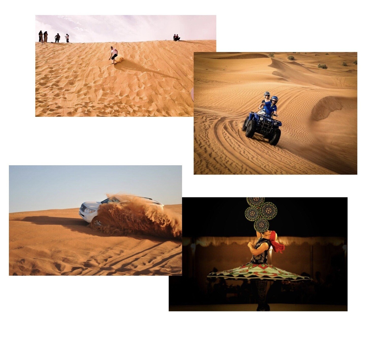 EVENING DESERT SAFARI & QUAD BIKING | PRIVATE CAR FOR 7 PERSONS    840 AED