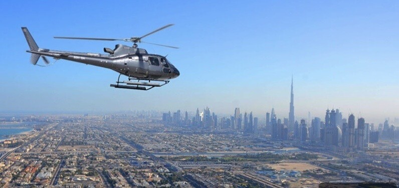 HELICOPTER TOUR ( 40 min ) 1838 AED