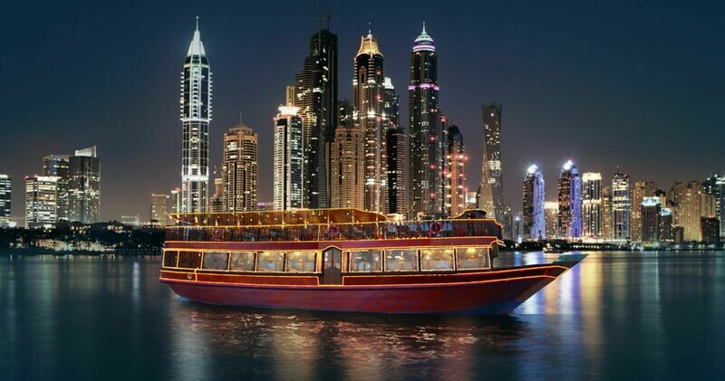 MARINA DHOW CRUISE  200 AED