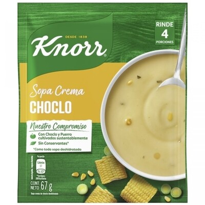 KNORR SOPA CREMA SOBRE CHOCLO  x67 G
