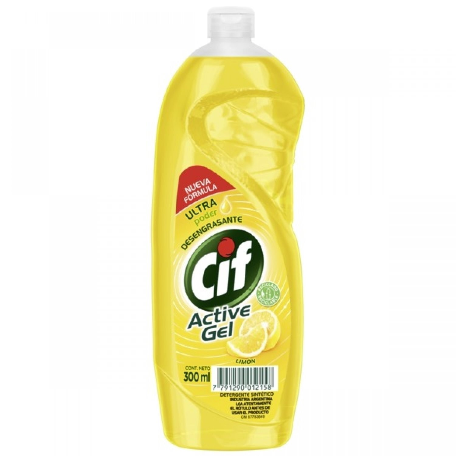 CIF ACTIVE GEL CORE LIMON  x 300ML