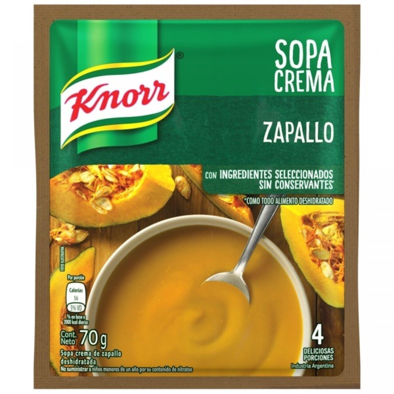 KNORR SOPA CREMA SOBRE ZAPALLO  x70 G