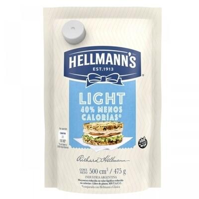 HELLMANNS MAYONESA LIGHT  D/P x475 G