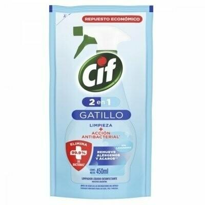 CIF LIMP ANTIBACTERIAL 2 en 1 D/P  x 450ML