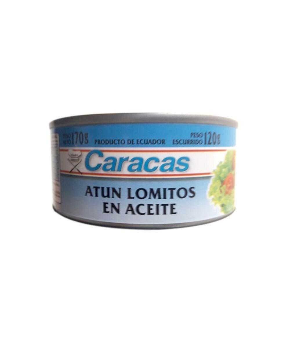 ATUN LOMITOS EN ACEITE CARACAS x170grs