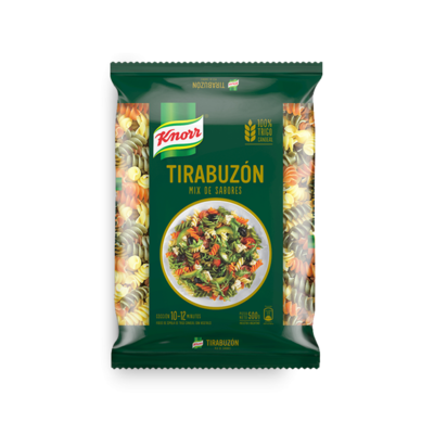KNORR FIDEOS TIRABUZON TRICOLOR x500grs