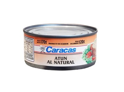 ATUN EN ACEITE Y AGUA CARACAS x170gr