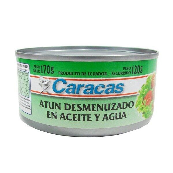 ATUN DESMENUZADO ACEITE CARACAS x170grs