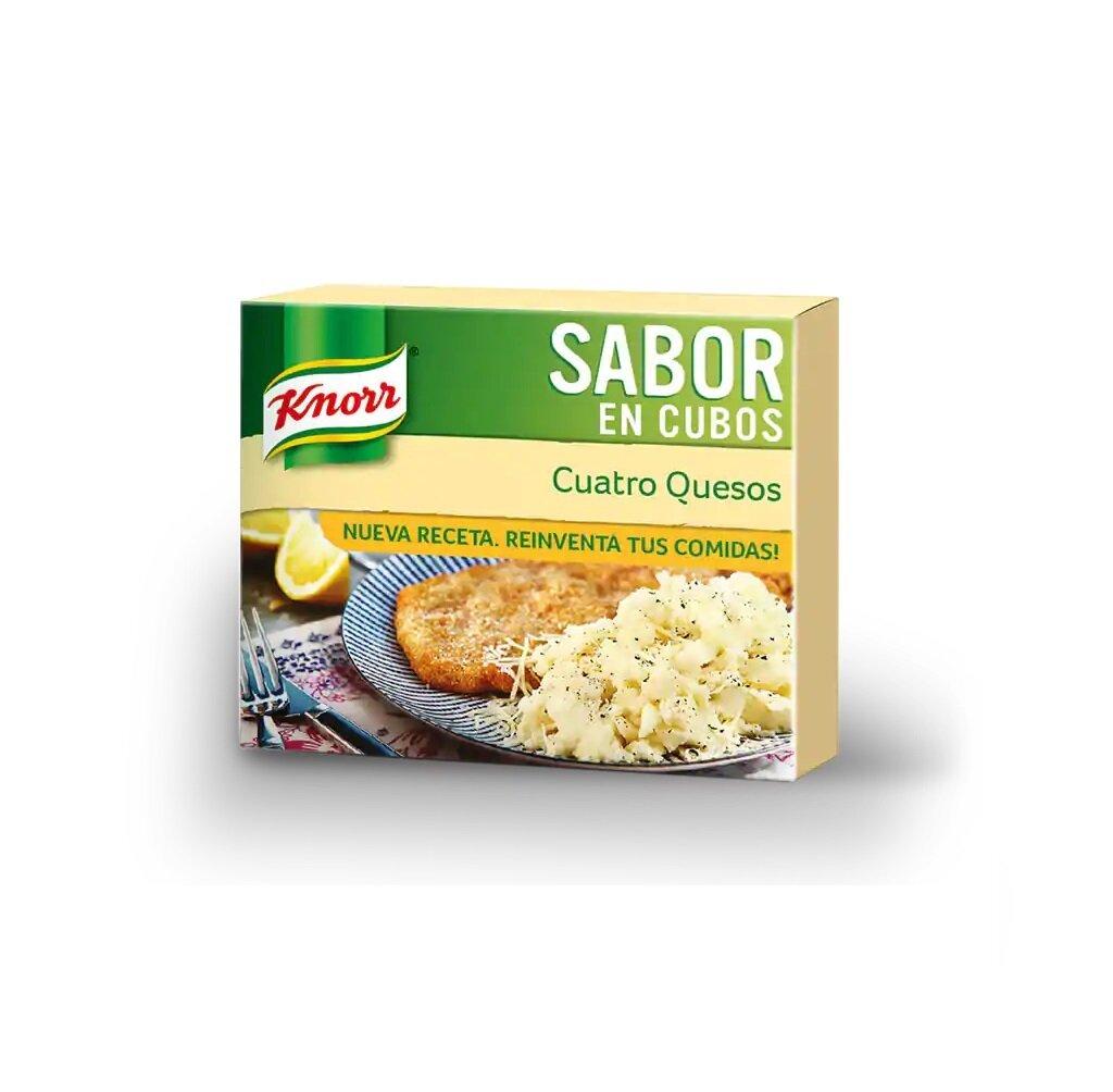 KNORR SABOR EN CUBO 4 QUESOS 10X6