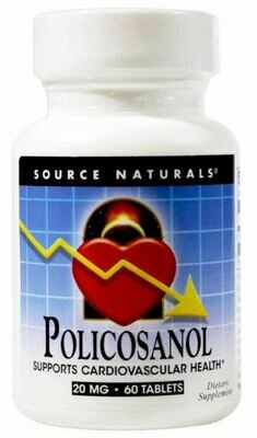 SOURCE NATURALS Policosanol 20 Mg Tablet, 60 Count