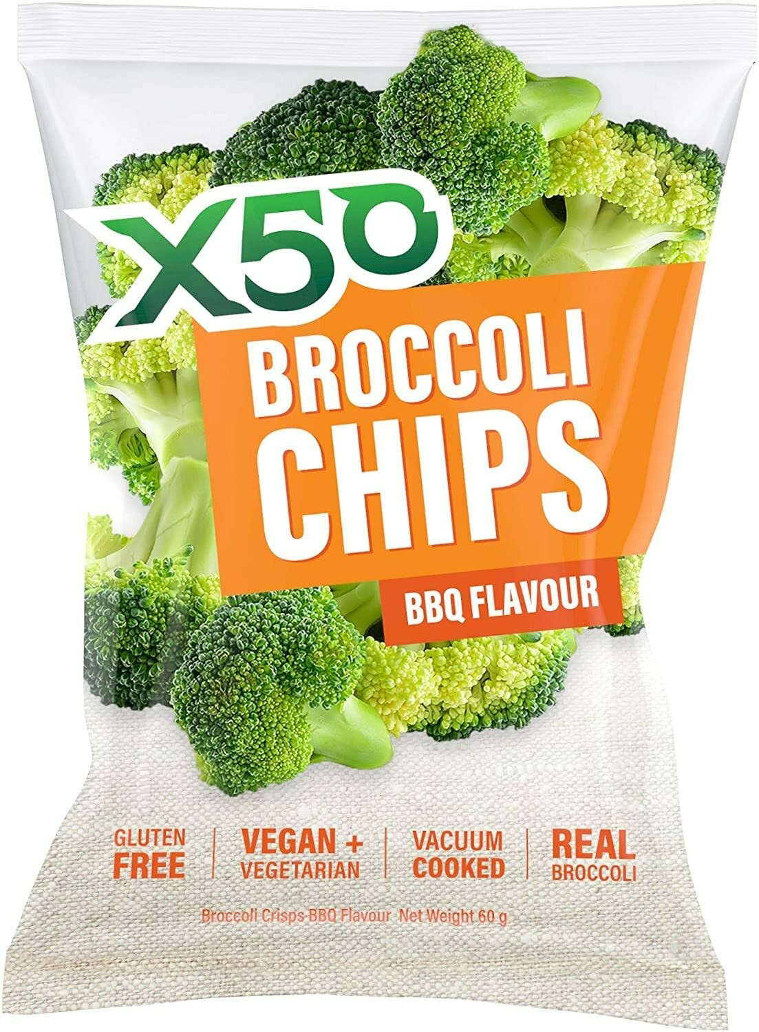 X50 Broccoli Chips 60g by X50