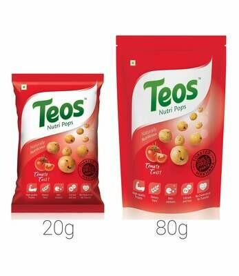 TEOS NutriPops Tomato Twist - Makhana (Foxnuts)