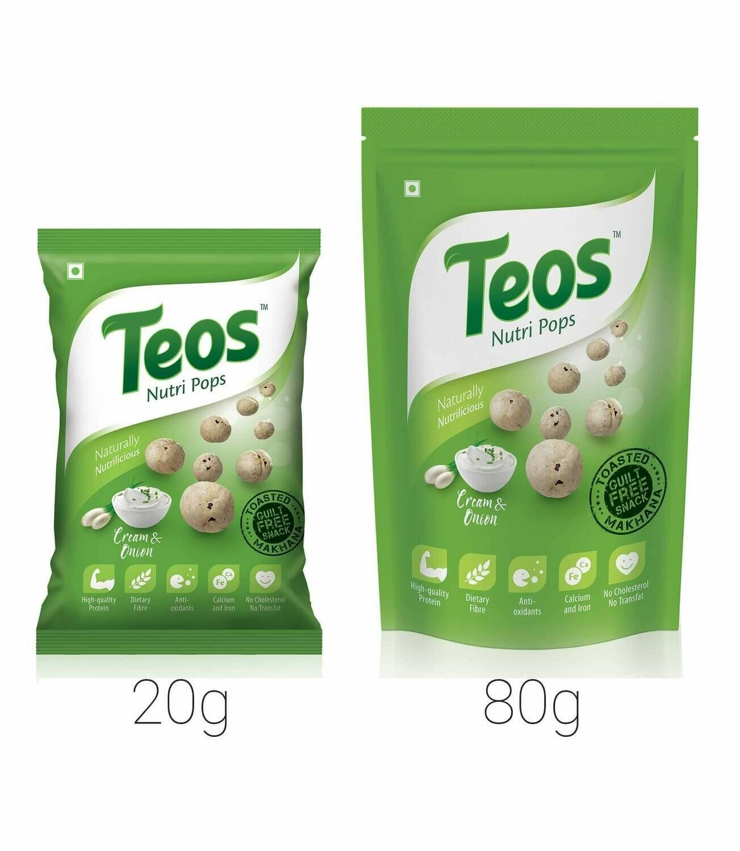 TEOS NutriPops Cream & Onion - Makhana (Foxnuts)