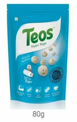 TEOS NutriPops Salt & Pepper - Makhana (Foxnuts)