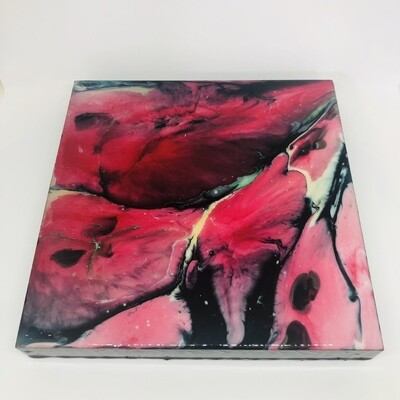 Abstract Watermelon on canvas