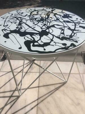 Black splash side table