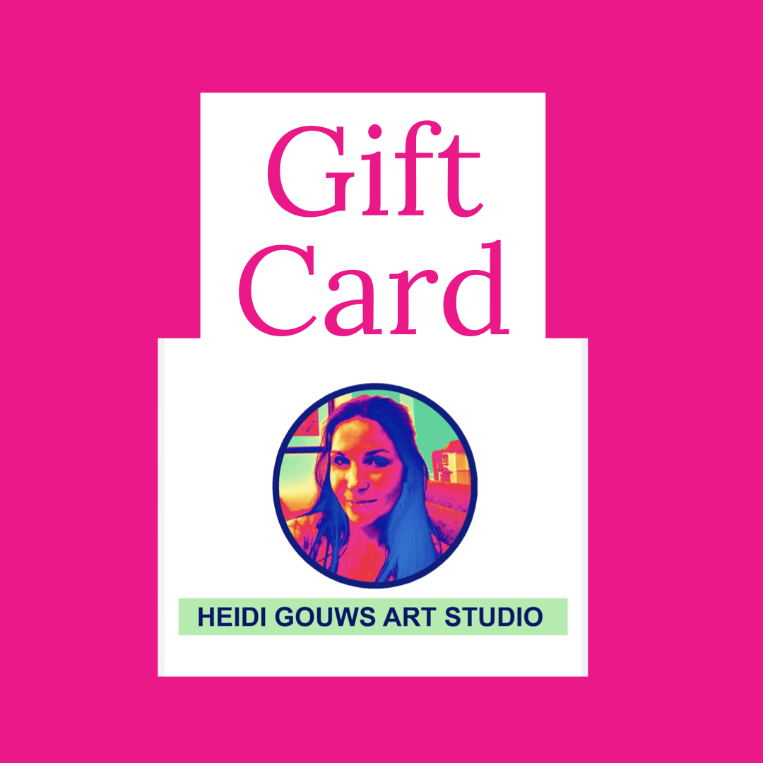 Heidi Gouws Art Studio Gift Card to Use for Workshop