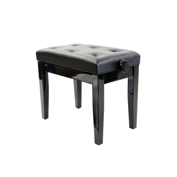 Prima Adjustable Piano Stool - Polished Ebony