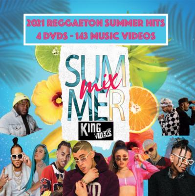 2021 REGGAETON Music Videos [4 DVD Package]