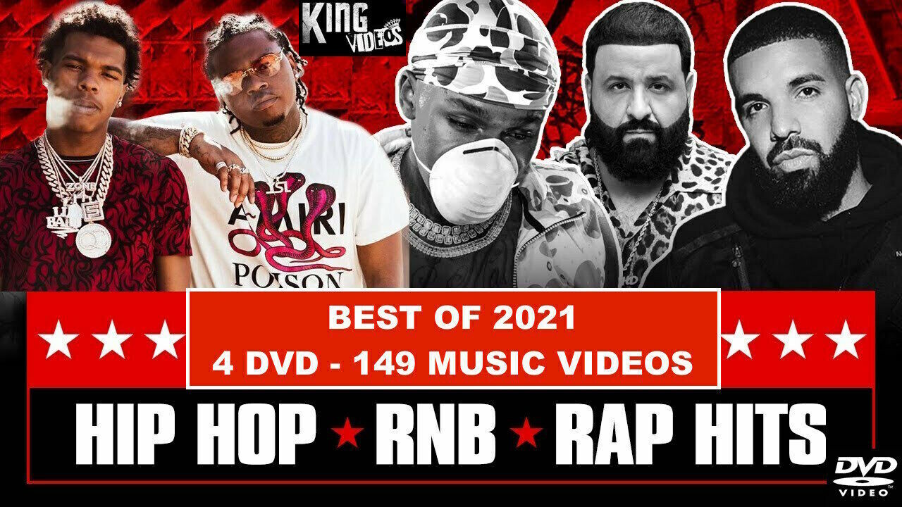 New 2021 Rap Hip Hop & RnB Music Videos [4 DVD Package]