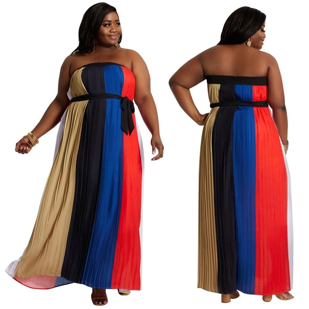 Robe Bustier Grande Taille Multicolore