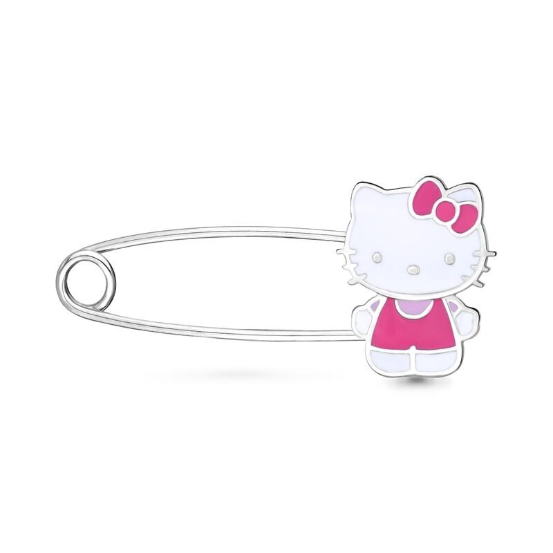 Булавка 72783 серебро 925  Hello Kitty