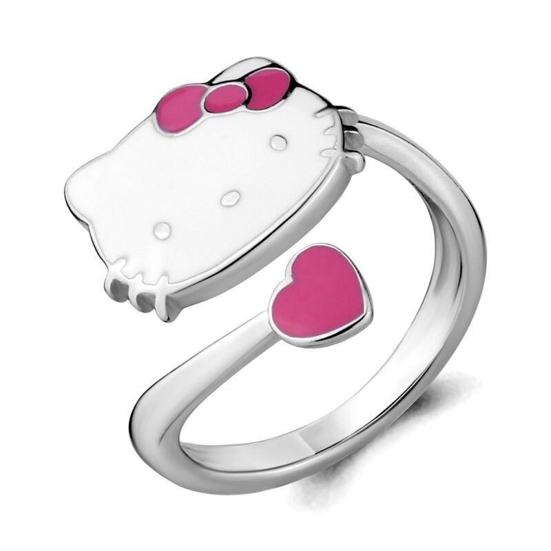 Кольцо 54660  серебро 925 Hello Kitty