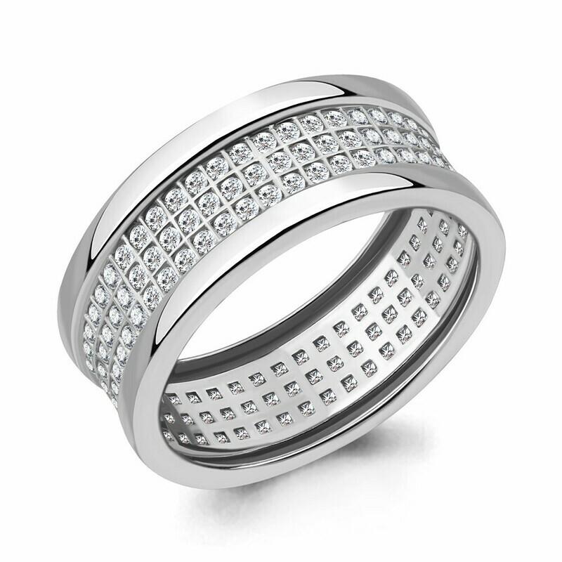 Кольцо 63358А.5 серебро 925