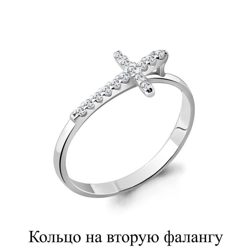 Кольцо 67518А  серебро 925