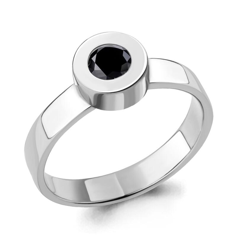 Кольцо 68481Ч серебро 925