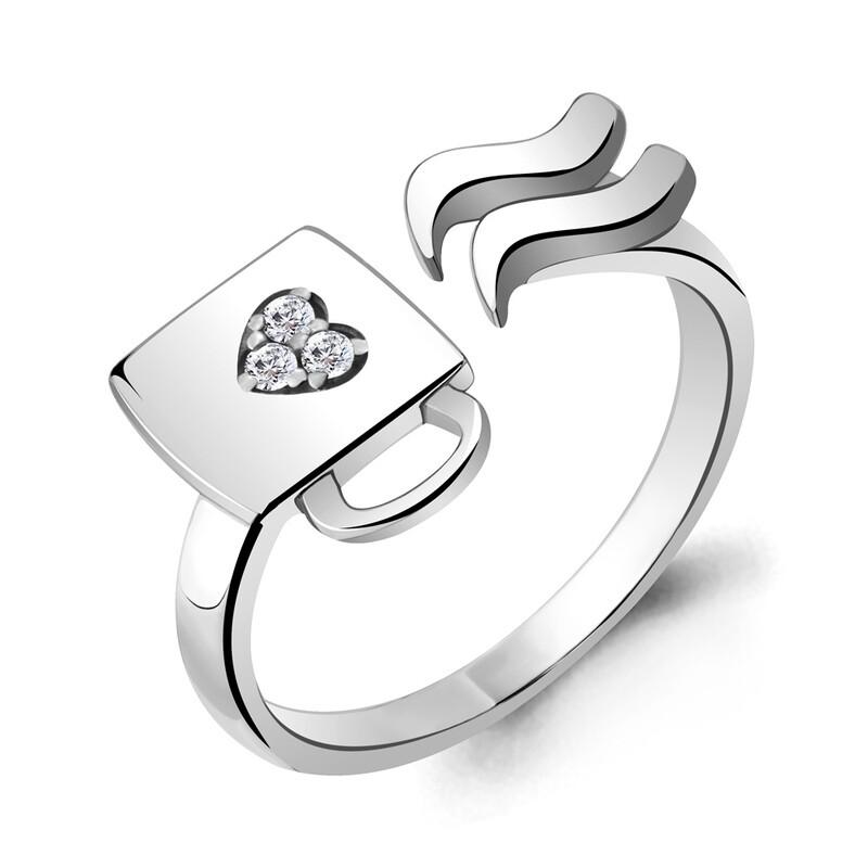 Кольцо 68673А серебро 925