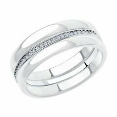 Кольцо 94014586 серебро 925