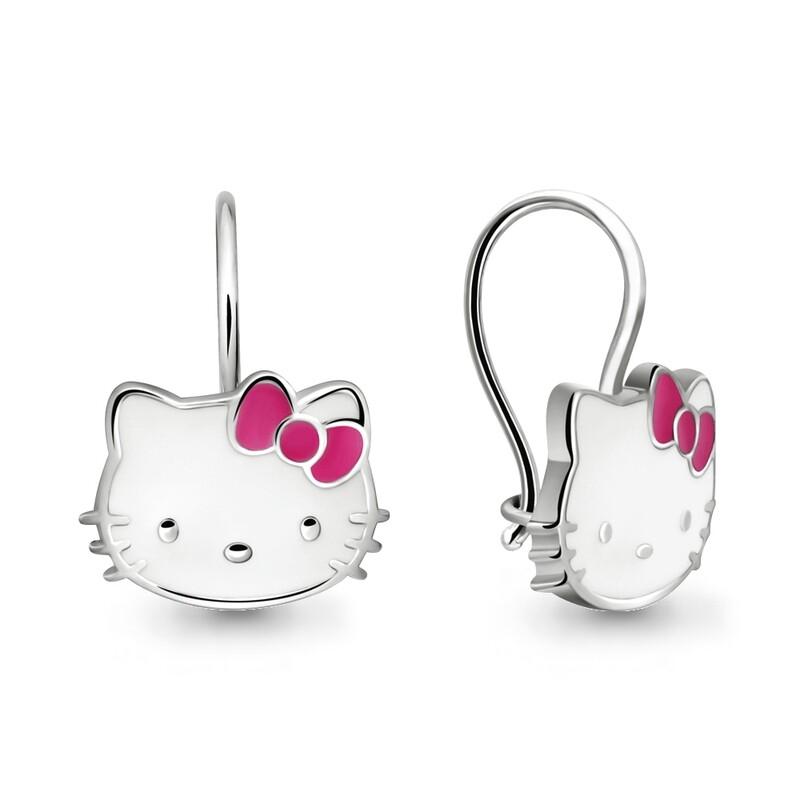 Серьги 33501 серебро 925 Hello Kitty