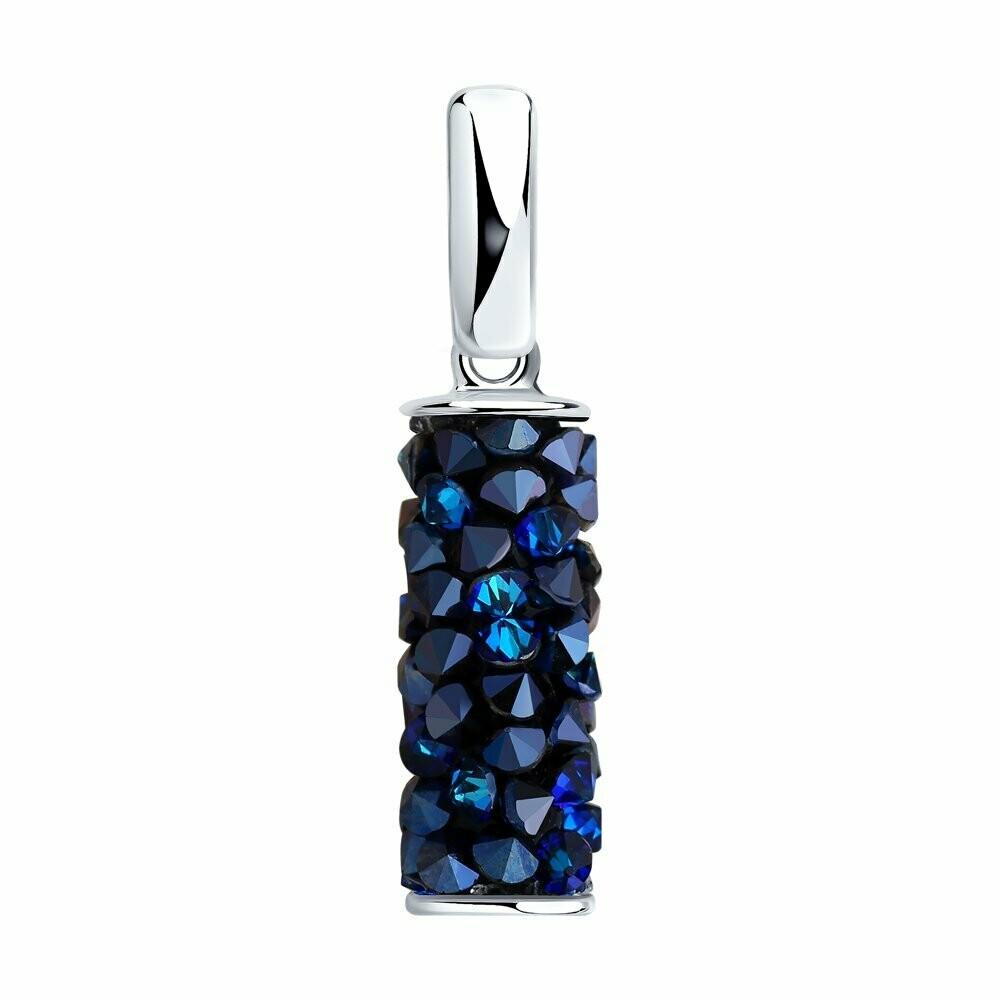 Подвеска из серебра с синими кристаллами Swarovski 94032187
