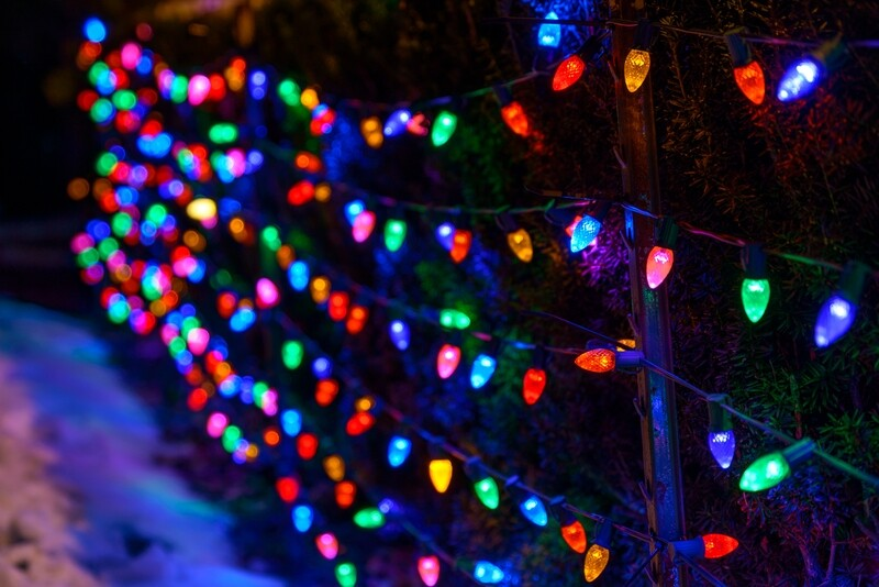 Photographing Holiday Lights in Low Light and at Night