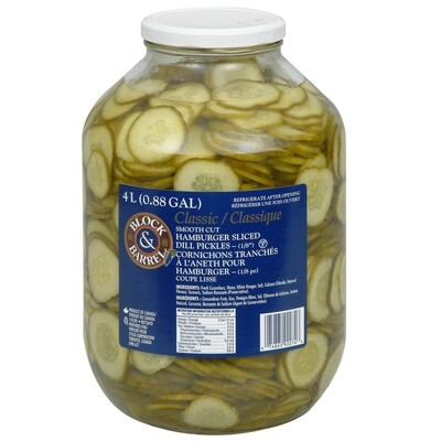 Hamburger Sliced Pickles 4Lt