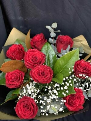 Long Red Rose Bouquet