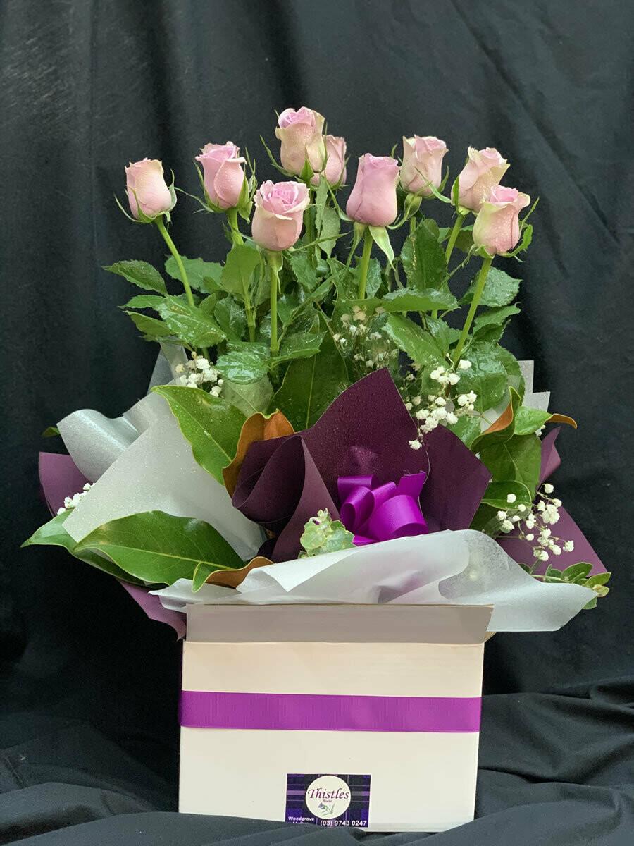 Large Rose Boxed Arrangement
