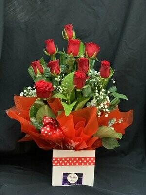 Mini Rose Boxed Arrangement