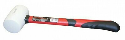 Киянка резиновая, 450гр., белая, фиберглассовая ручка