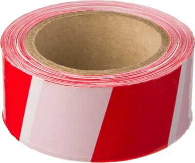 Лента сигнальная красно-белая 50мм*150м