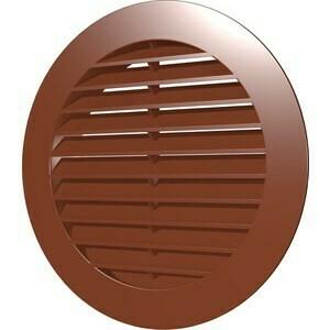 Решетка вентиляционная D=130мм на трубу 10ркн, коричневая