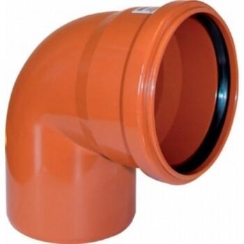 Отвод D=160мм Угол-90° (Рыжий)