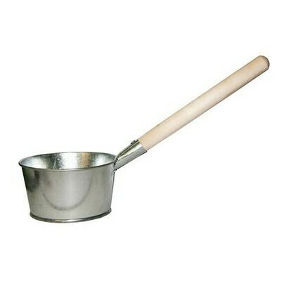 Ковш банный нерж. с деревянной ручкой 1,5л (Магнитогорск)