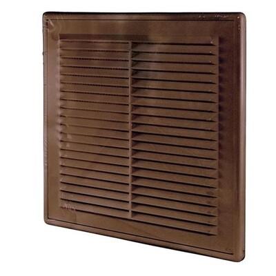 Решетка вентиляционная 150мм*150мм, разъемная с сеткой, коричневая