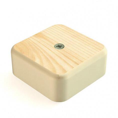Коробка распределительная для к/к, 75мм*75мм*20мм, сосна