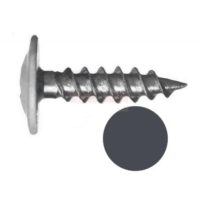 Саморез с прессшайбой острый 4,2мм*16мм (RAL-7024 Серый графит)
