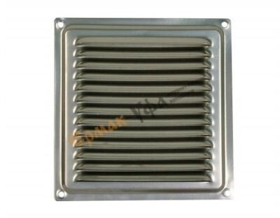 Решетка вентиляционная 125мм*125мм, стальная, оцинкованная