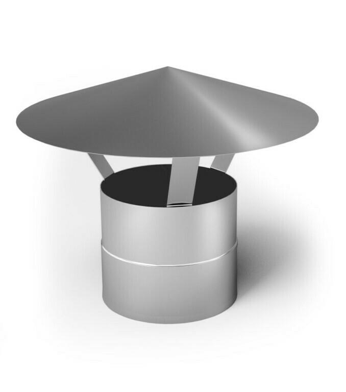 Зонт D=120мм, оцинкованный (0.5мм)
