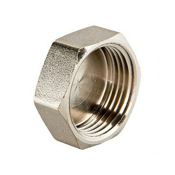 """Заглушка, внутренняя резьба D=1/2"""", латунь-никель"""